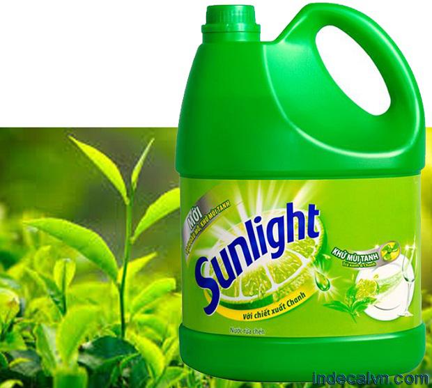 in nhãn nước rửa chén